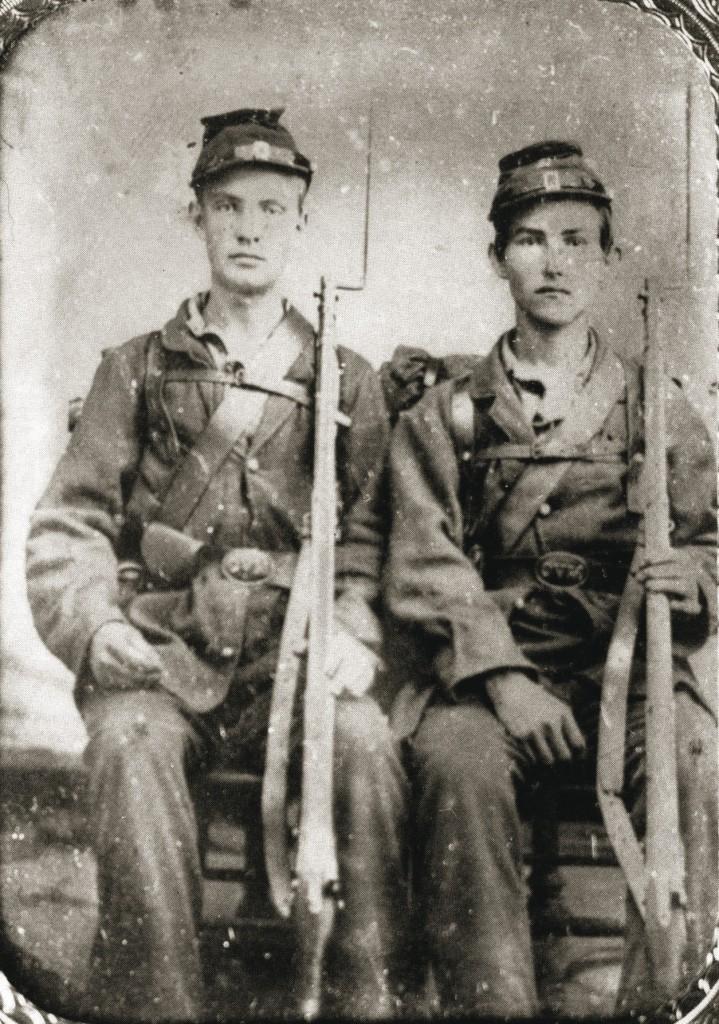 Samuel Chamberlain (left) and friend Scott.